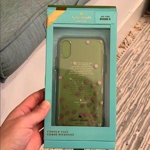 Kate Spade Confetti Rose Gold iPhone X/XS case